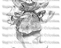 Christmas Angel Image. Christmas PNG. Christmas Angel PNG. Christmas Angel Print. Christmas Angel Clipart. Christmas Art.  No. 0102