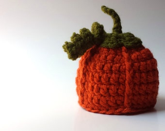 baby pumpkin hat, fall photo prop, newborn pumpkin hat