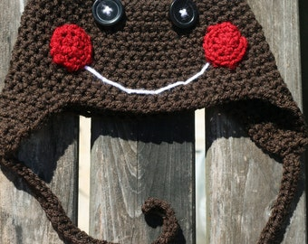 Crochet Gingerbread Man Hat