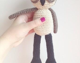 Owl Plush, Owl Stuffed Animal, Owl Plushie, Owl Stuffed Toy, Crochet Owl