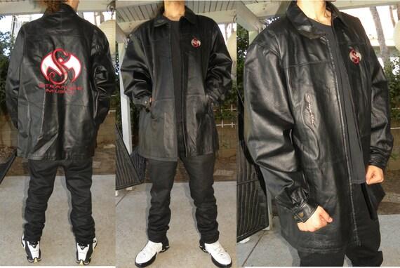 Embroidered Leather Jacket Jacket Embroidered Hip Hop