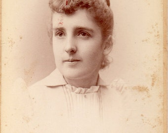 Antique Photo of Lovely Young Woman