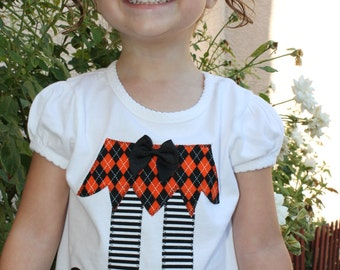 Size 5T Girl's Witch Halloween Shirt