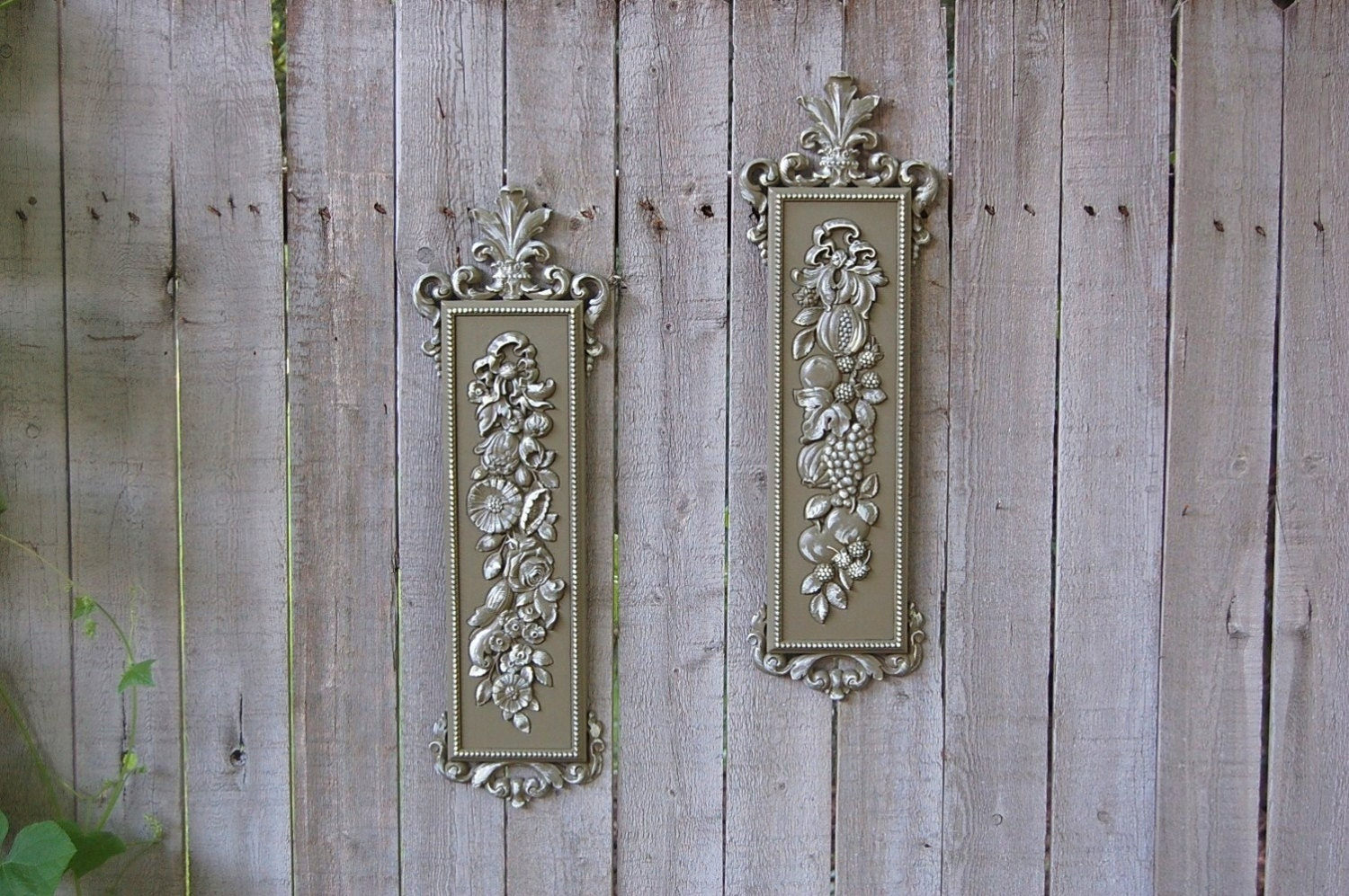 Wall Decor Green : Shabby chic wall decor olive sage green by thevintageartistry