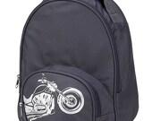 Personalized Backpack Toddler Backpack Preschool Backpack Grey Backpack Motorcycle Backpack Kid Backpack Toddler Bag Book Bag Girl Backpack