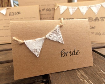 Escort place cards wedding