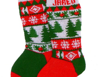 Christmas Trees or Holly Stocking