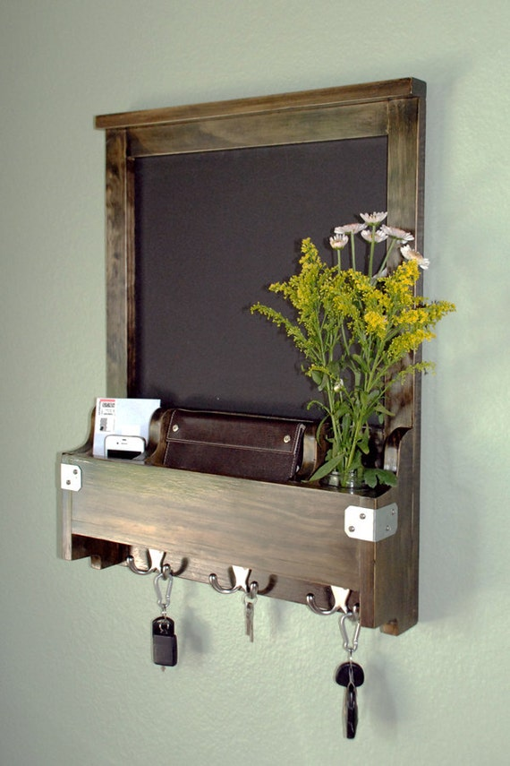 Items Similar To Entry Wall Organizer Chalkboard Mail