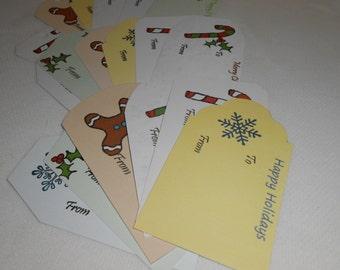 Premade Gift Tags, Holiday Gift Tags, Printable Gift Tags, Large Gift Tags