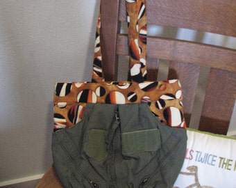Tiger Marble Flightsuit Sack Bag