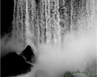 Waterfall Photography • Black and White Nature Photography • Niagara Falls Art Print Also Available on Canvas