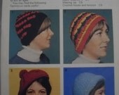 Original pattern. Silver needles. Hats galore pattern no 6. Crochet.
