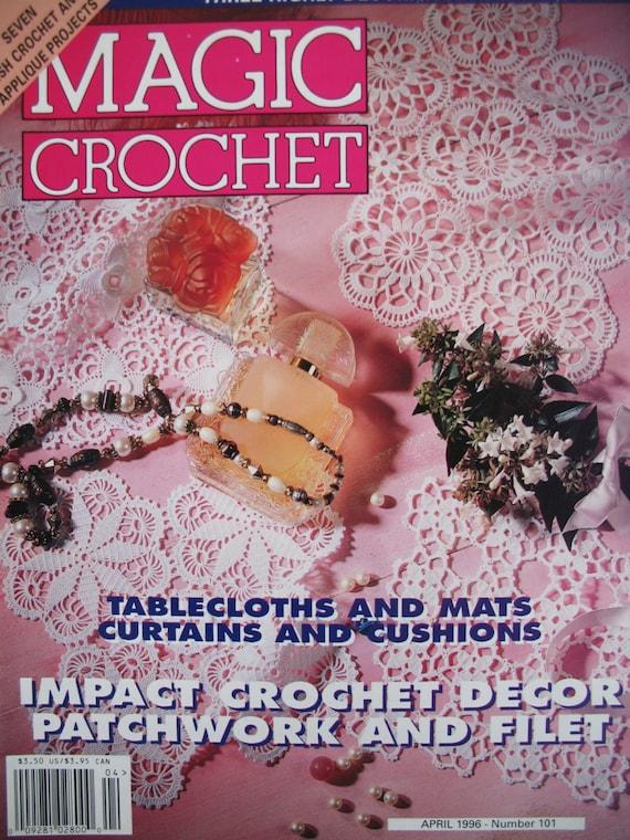 Magic Crochet Magazine : Magic Crochet Magazine Crochet Pattern Book Number 101 April 1996 ...