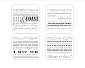 Set of 8 - PLUM  Instant Download Wine Poem Tags