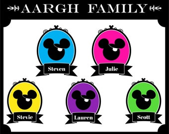 "PRINTABLE ""AArgh Family"" Disney Cruise Door Magnet or Iron-On"