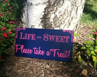 Candy Buffet Sign - Wedding Sign - Love is Sweet - Wedding Signage -- Custom Wood Sign -- Photo Prop