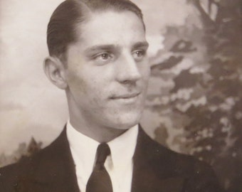 Original 1930's Handsome Young Man Photo Booth Photo
