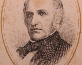 1860's Civil War Era Colonel Baker CDV Souvenir Portrait Photograph - Free Shipping