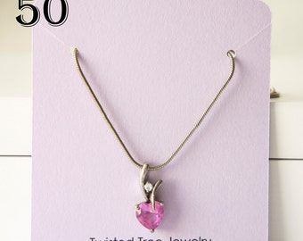 Custom Necklace Cards With Your Shop Name Or Logo-3 by 2.75 inches- Many Colors Avaialble (50 Cards)