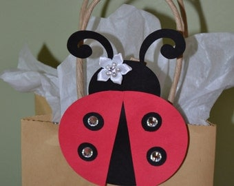 12 Ladybug Sparkle Favor Clips for Bags, Baskets or Boxes - Birthday Party