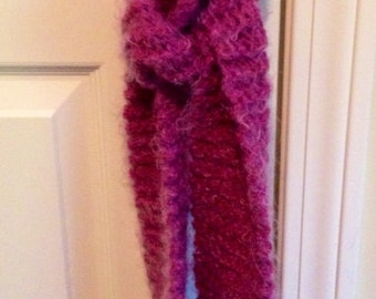 LABOR DAY SALE! Hand Crafted Light Purple Mohair Scarf