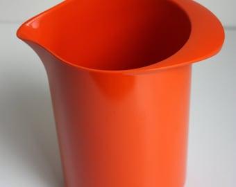 1970's Orange Melamine Pitcher by Rosti (Denmark)