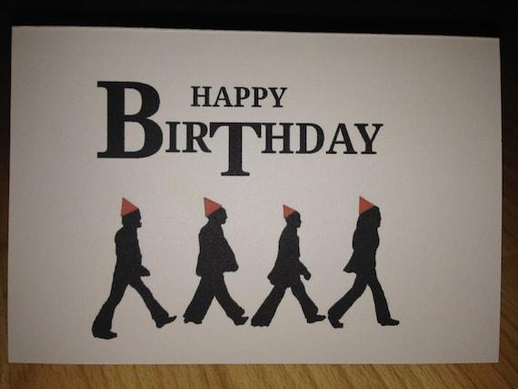 Items similar to The Beatles birthday card on Etsy – Beatles Birthday Cards