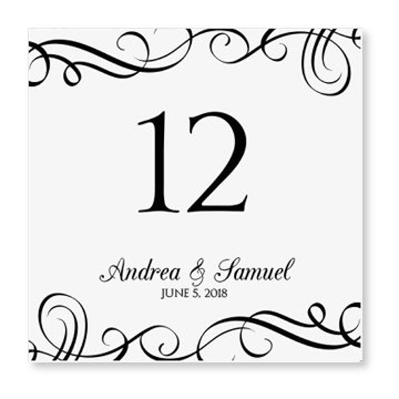 instant download wedding table number card by karmakweddings. Black Bedroom Furniture Sets. Home Design Ideas