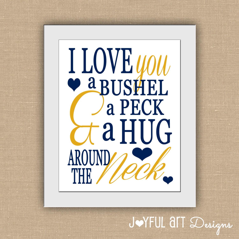 Love you a bushel and a peck and a hug by joyfulartdesigns