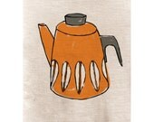 Print of Hand drawn illustration doodle of Cathrineholm Coffee Pot