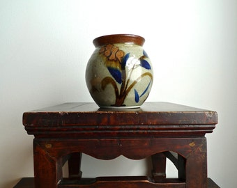 Sale - Vintage Studio Pottery Jar with Lid Signed by the Artist
