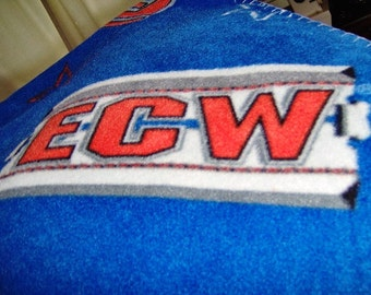 SALE ECW Smack Down Raw Wrestling Twin Size Fleece Blanket