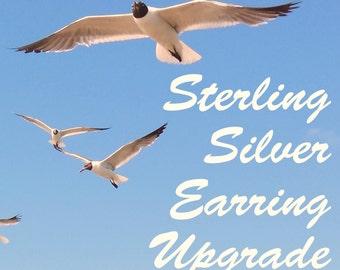 Sterling Silver Earring Upgrade.  Sterling Silver Earrings
