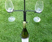 Wine Caddy - Excellent Gift for the Summer Months, Wine rack and glass holder