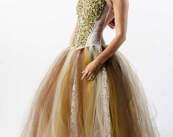 Custom Swarovski Crystal Corset Dress Wedding Prom Evening Gown