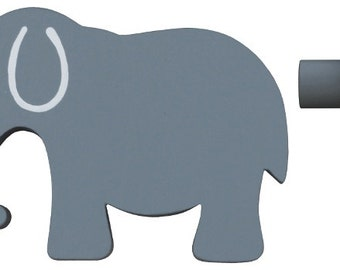 Elephant Drawer Knob - Grey Elephant Drawer Pull