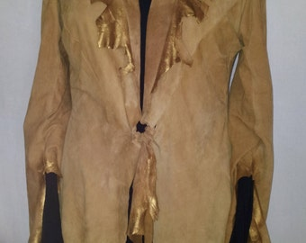 Soft suede chamois leather pirate vest cut Worth