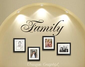 Family Wall Decal Vinyl wall art sticker