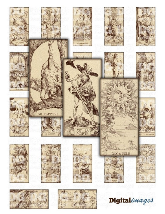 Old Tarot Cards Full Deck The High Priestess Stock: Antique Tarot Card By Durer Rectangles 1x2 Inch 25x50mm