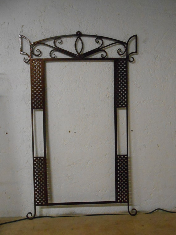 Marco para espejo fabricado en herrer a fina forjado a mano for Espejo con marco de espejo