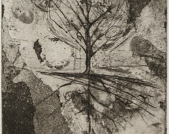 Branches & Roots - Original Hand Pulled Etching and Aquatint