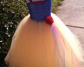 Baby Girl, Toddler girl, Little girl SNOW WHITE themed Tutu Dress
