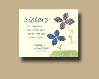 A Special Wedding Gift For My Sister : Sisters Gift Print - Personalized Gift for Sister - Wedding Gift for ...