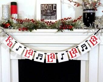 Christmas Banner - Fa La La La La Sign - Merry Christmas banner - Holiday Decor - Christmas Decor - Music Notes - X-mas Song - Family Photos
