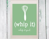 Items Similar To Whip It Whisk Kitchen Art Printable Print