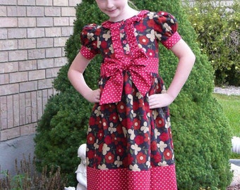 Baby, Girls, and Tweens Classic Ruffle Dress or Shirt, PDF Sewing Pattern, Sizes NB-24months, 2T-8, 10-16