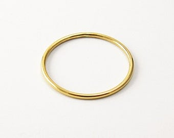 Thin Yellow 14k Gold Filled Smooth Stacking Ring (18 gauge)