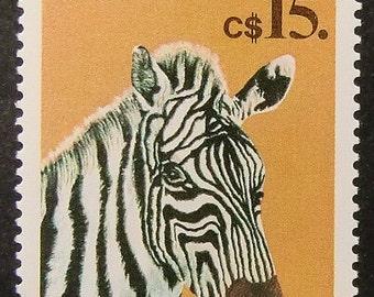 Zebra Cebra Nicaragua -Handmade Framed Postage Stamp Art 11047AM