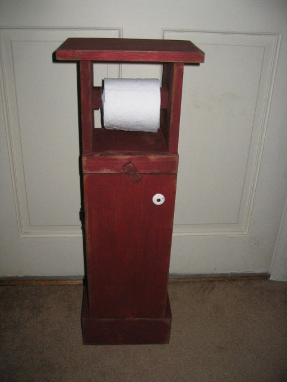 Free standing toilet paper holder Wood toilet paper holders