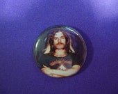 "LEMMY from MOTORHEAD button or magnet 1"" one inch pinback pin badge metal rock band music group Hawkwind British Kilmeister"
